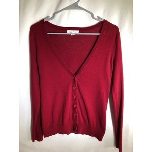 Forever21 Lightweight Red Cardigan/Cover-Up